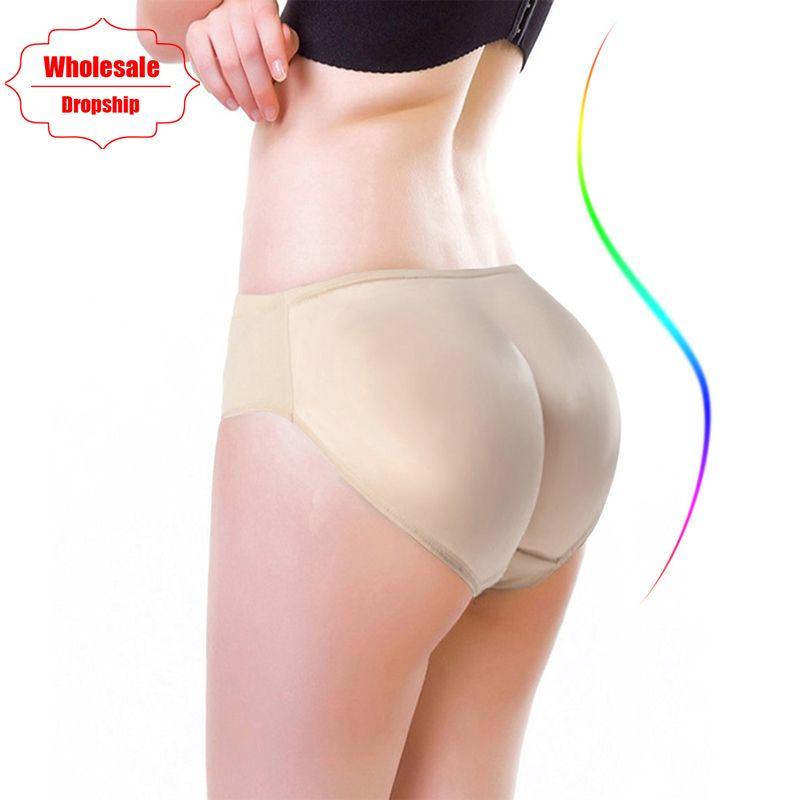 NINGMI Chaude Shaper Boyshort Push Up Culottes de Contrôle Femmes Big Ass Sous-Vêtements Faux Butt Pad Taille Formateur Butt Lifter Hip exhausteurs