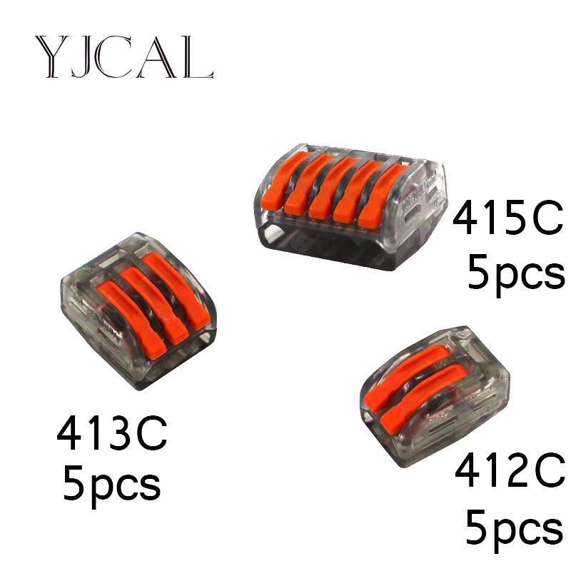 (15pcs) Wago Type 222-412 413 415  Universal Compact Wiring Conector Terminal Block Connectors Terminator Wire Connector