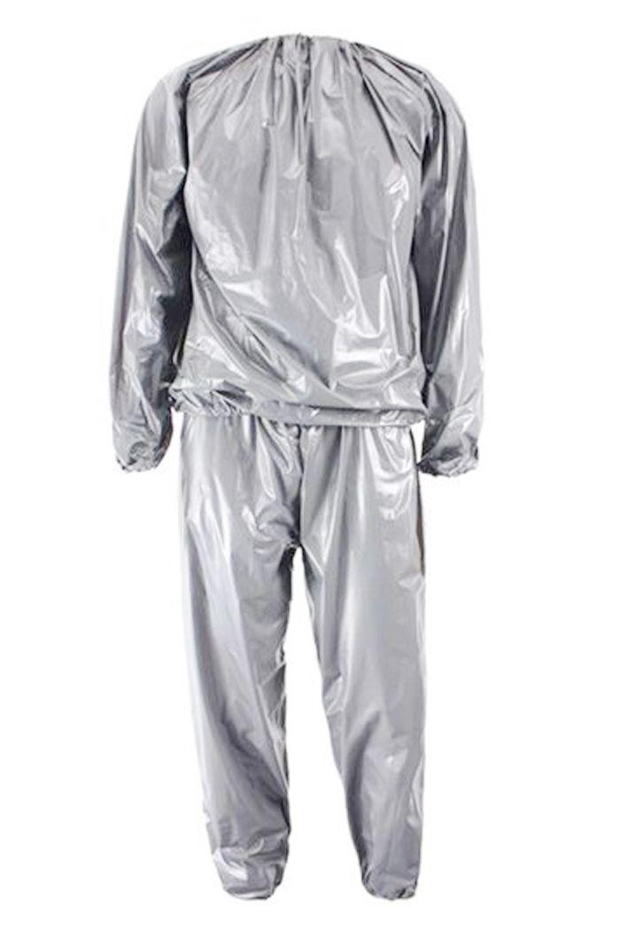 Jho-heavy Duty Fitness perte de poids sueur Sauna costume exercice Gym Anti-déchirure argent L