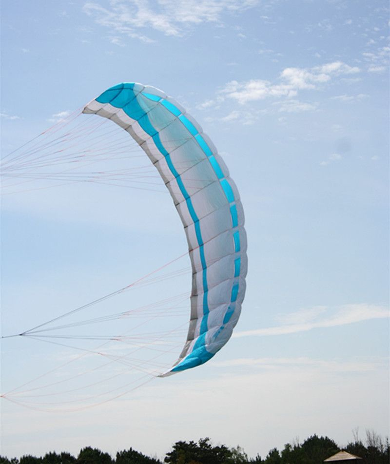 free shipping large 4 square meters quad line power kite parafoil kitesurfing with control bar albatross kite factory
