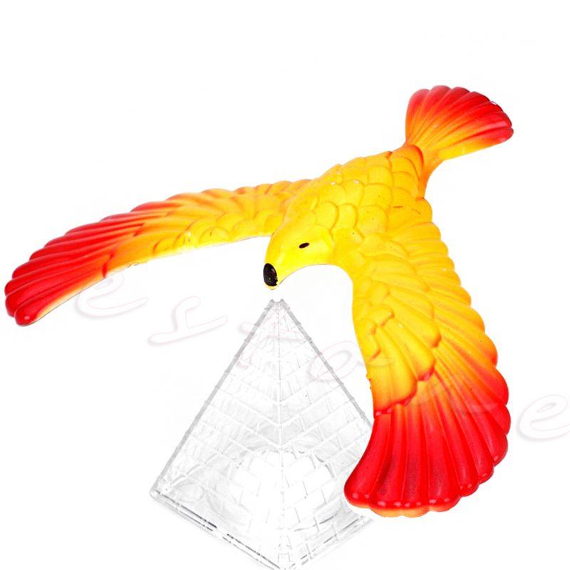 2017 Drop shipping Magic Balancing Bird Science Desk Toy w/ Base Novelty  Eagle Fun Learn Gag Gift  JUL4_20