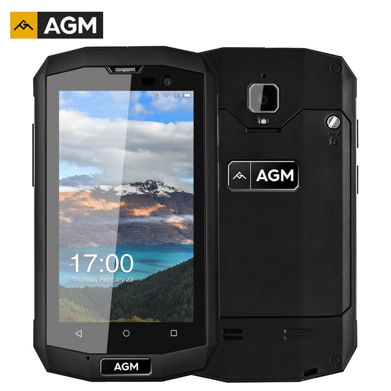 AGM A8 Mini IP68 Shockproof Smartphone 4 Inch 1GB RAM+8GB ROM Android 5.1 Quad Core 8.0MP 2600mAh LTE 4G Waterproof Cell Phones