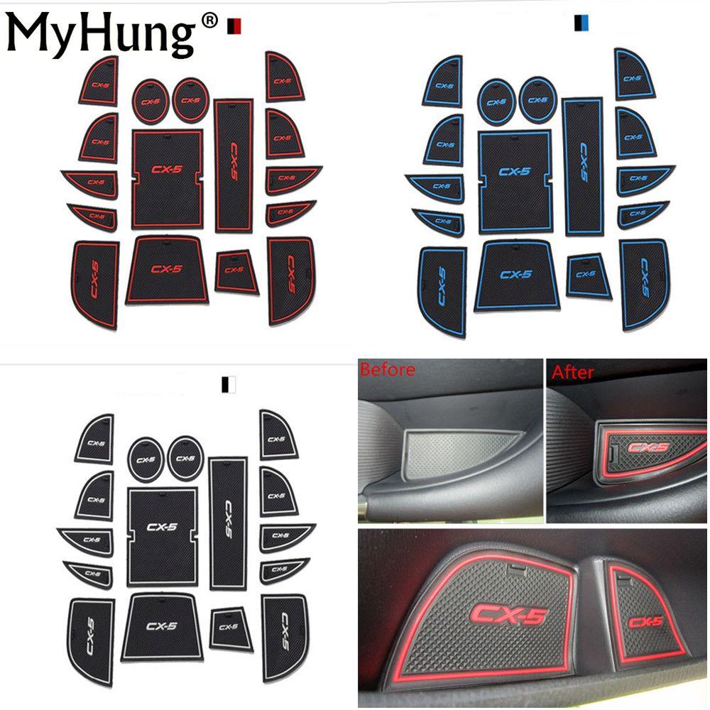 Haute qualité antidérapant intérieur porte Pad tasse tapis Auto accessoires adaptés pour Mazda CX-5 CX5 2013-2016 voiture style 16 pièces