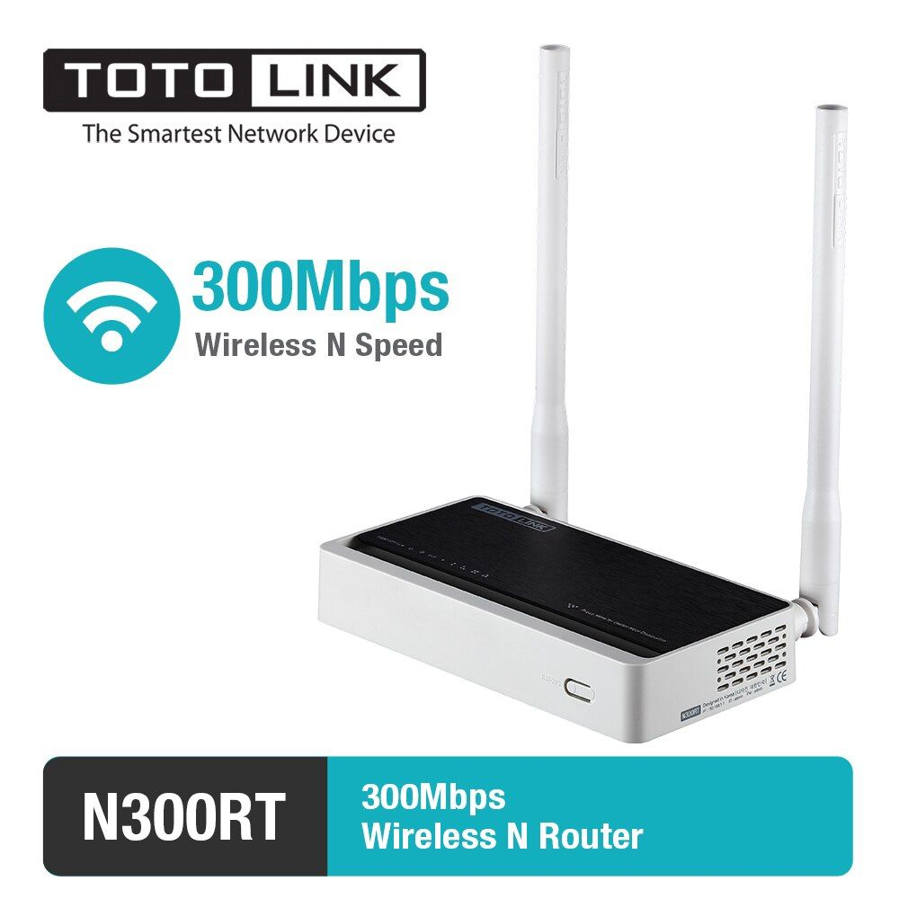 TOTOLINK N300RT 300Mbps WiFi Router Integrated with Wireless Repeater and AP in One, 2 Antennas, English and Russia Firmware