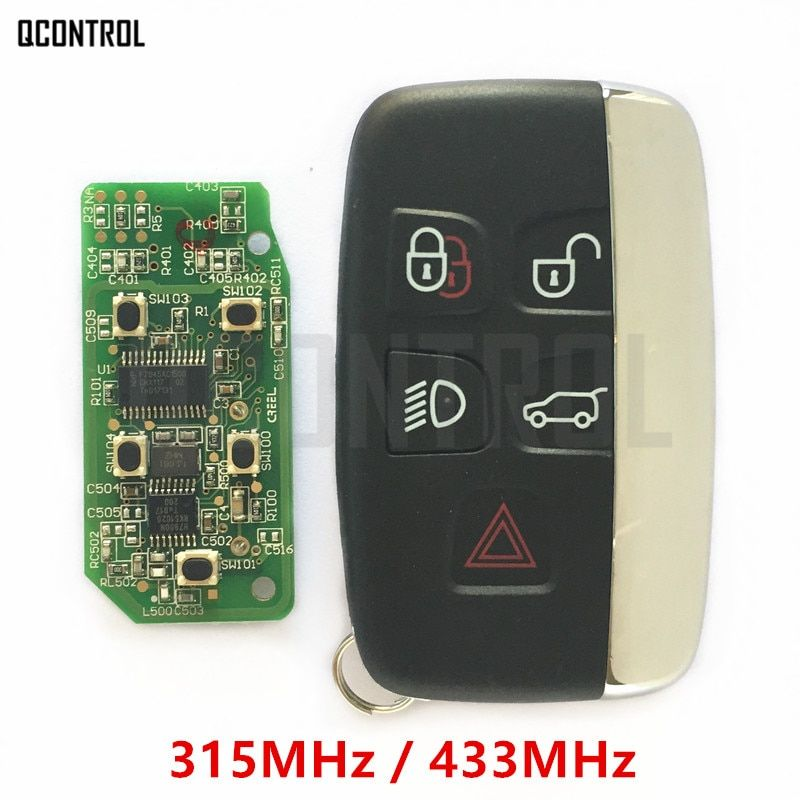QCONTROL Car Remote Smart Key 315MHz / 434MHz Suit for Land Rover Discovery 4 / Freelander for Range Rover Sport / Evoque
