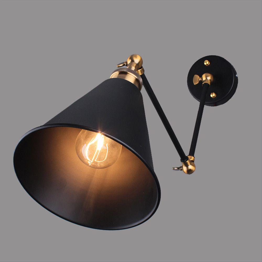 Antique wall lights sconce industrial lighting luminaire E27 plated Loft american retro vintage design iron wall lamp luminaire