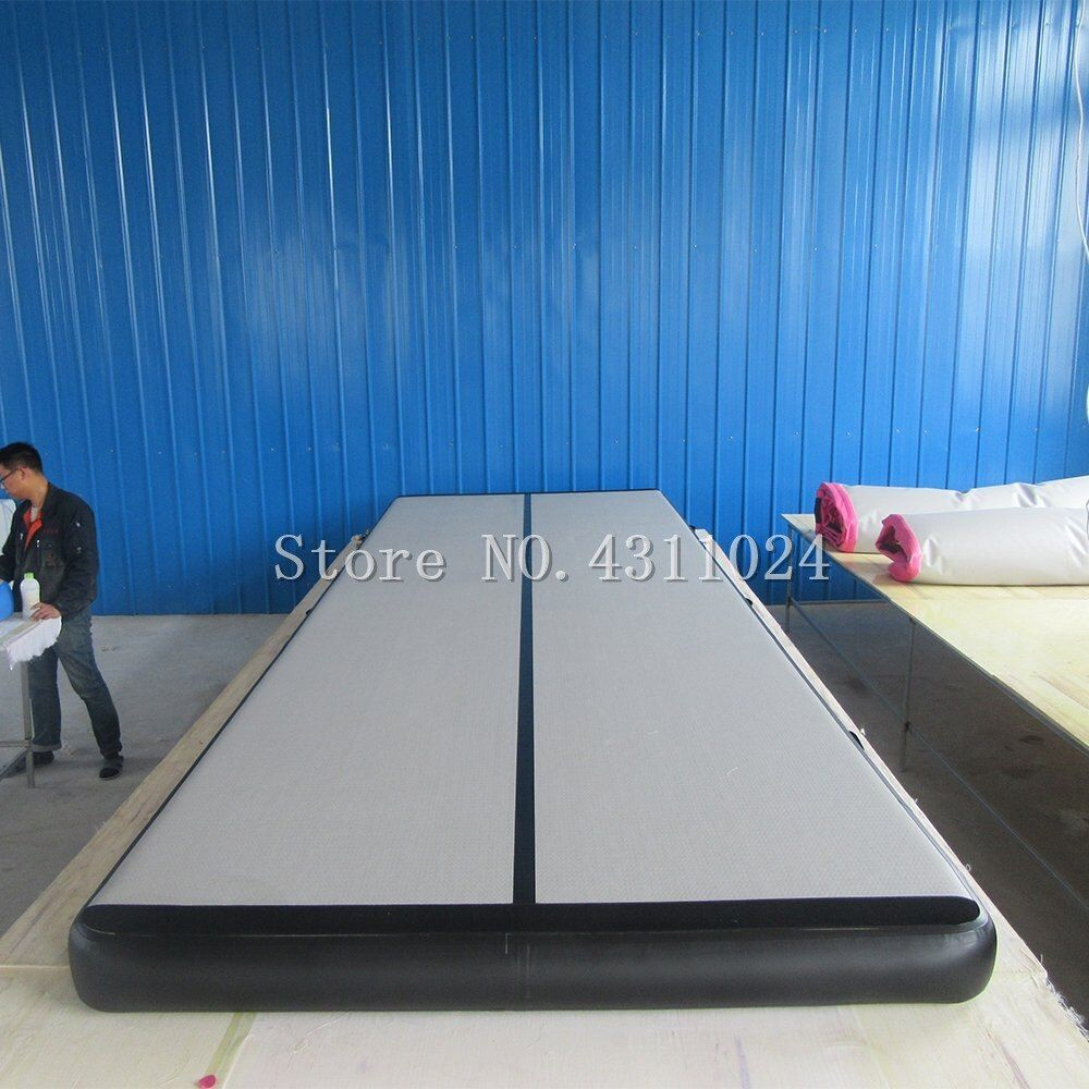 Free Shipping 6x1x0.2m Blue Inflatable Gymnastics Mattress Gym Tumble Airtrack Floor Tumbling Air Track For Sale