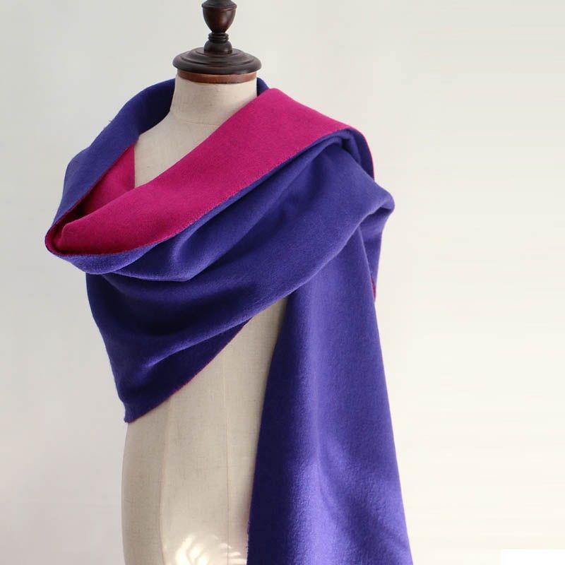 100% шерстяной шарф Кашемир с кисточкой для женщин двухсторонний леди зимний толстый теплый шарф высокого качества Женский платок с жемчугом...