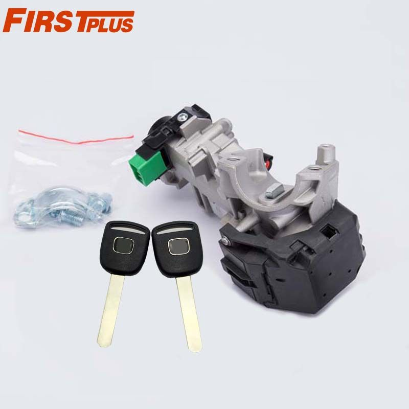 Ignition Switch Lock Cylinder For Honda Accord Civic CRV Odyssey 2003-2011 Auto Trans With 2 Chip Keys