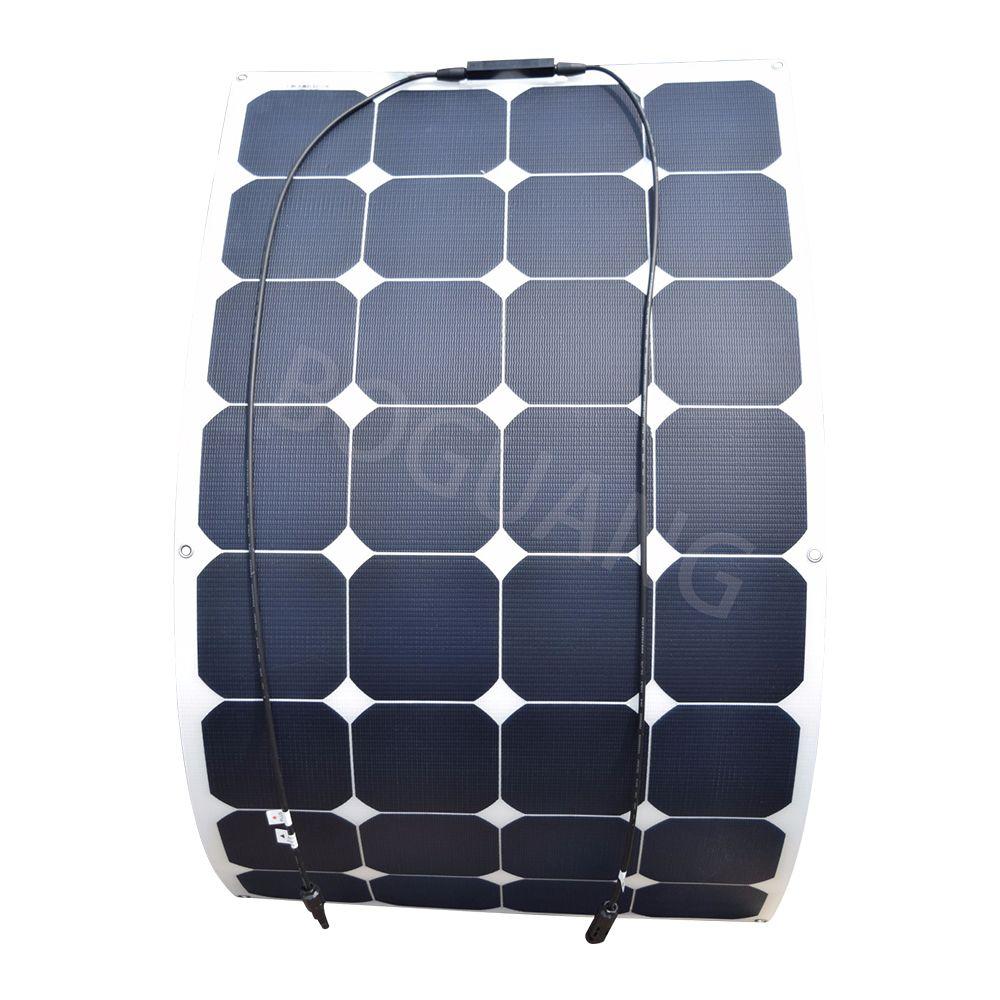 18V 100W 100watt flexible ETFE efficient solar panel boat sun power cell solar panels 100 W for 12V RV boat charging battery