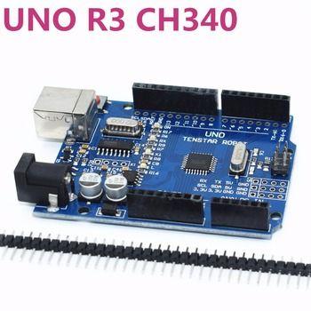 One set TENSTAR ROBOT UNO R3 CH340G+MEGA328P Chip 16Mhz UNO R3 black/blue/red for arduino uno r3