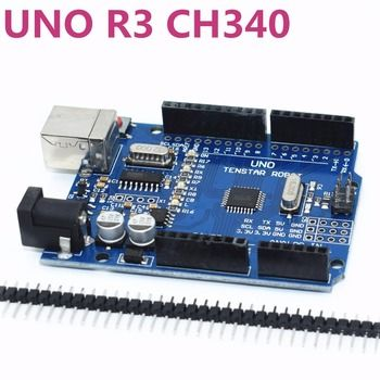 One set TENSTAR ROBOT UNO R3 CH340G+MEGA328P Chip 16Mhz for arduino