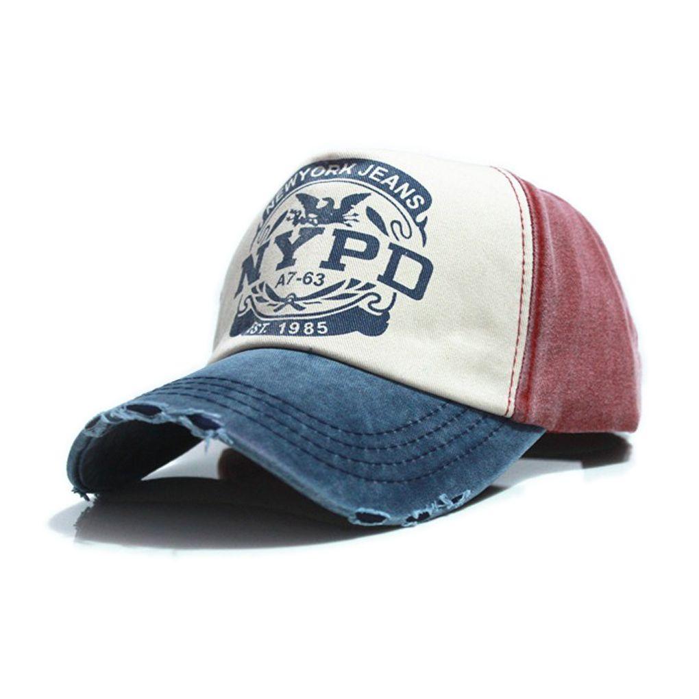 Mode 6 farben Ausgestattet Trucker Hip Hop Baseball-mütze NYPD Brief Casquette Loch Caps Unisex Gorras Hombre frauen Baumwolle