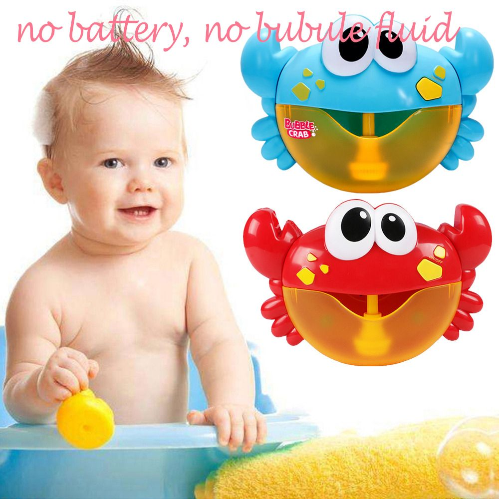 Kids Cute Funny Automatic Cartoon Crab Bubble Machine Music Electric Soap Bubble Maker Blower Bath Toy with 12 Songs