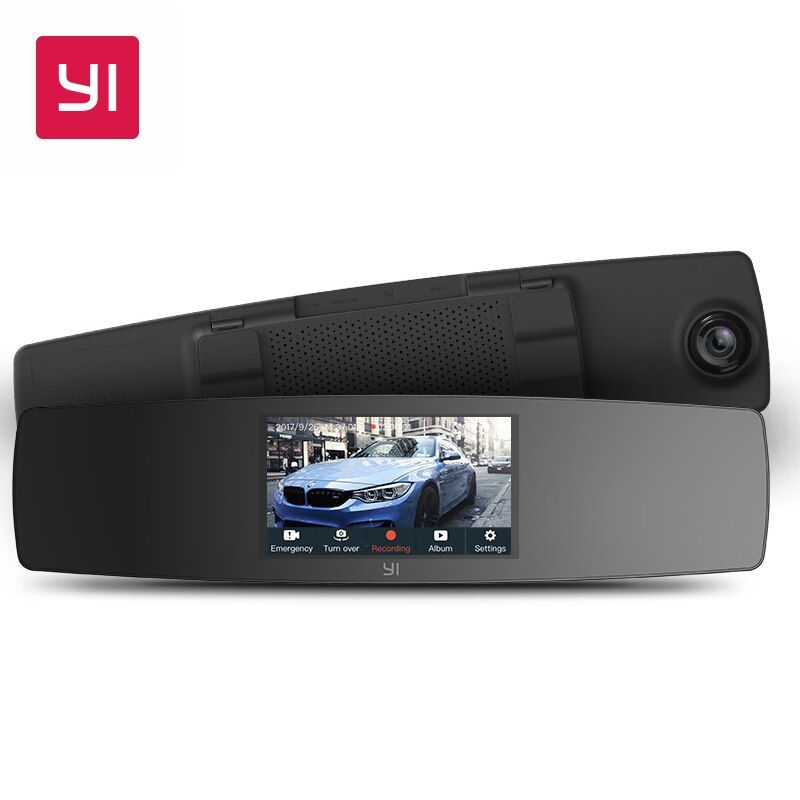 YI Rearview Mirror Dash Cam Touch Screen Front Rear View HD Auto Video Car Wifi DVR Camera Recorder G Sensor Night Vision