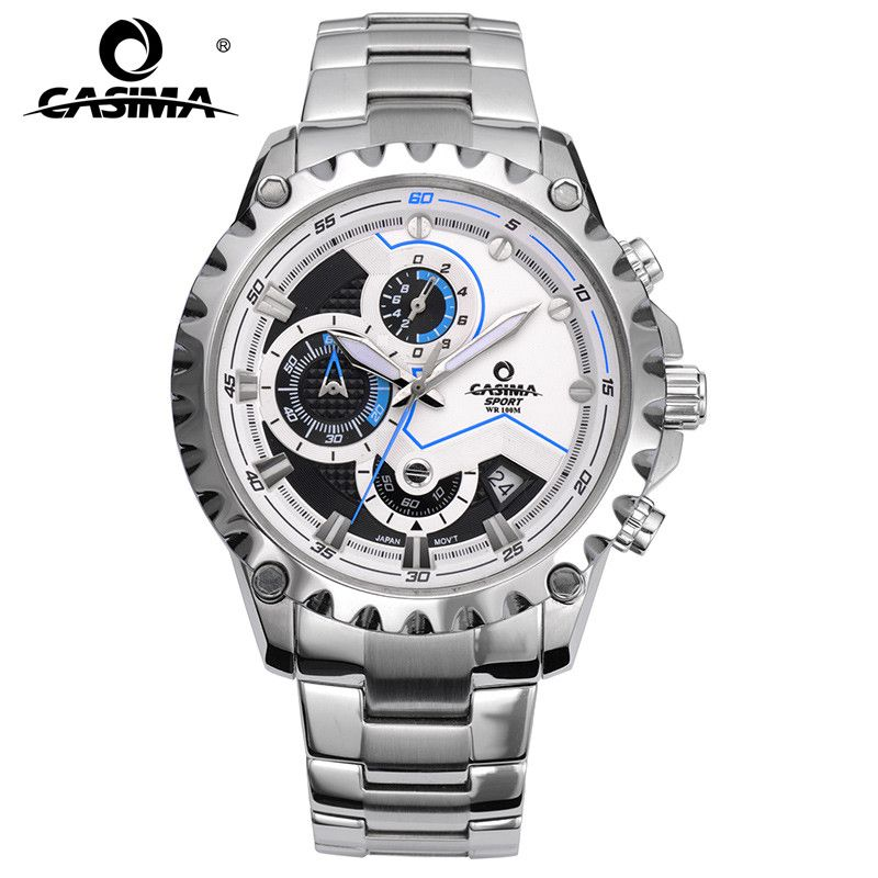 Luxury Brand sport men watches fashion charm mens quartz wrist watch waterproof 100m relogio masculino #CASIMA 8203