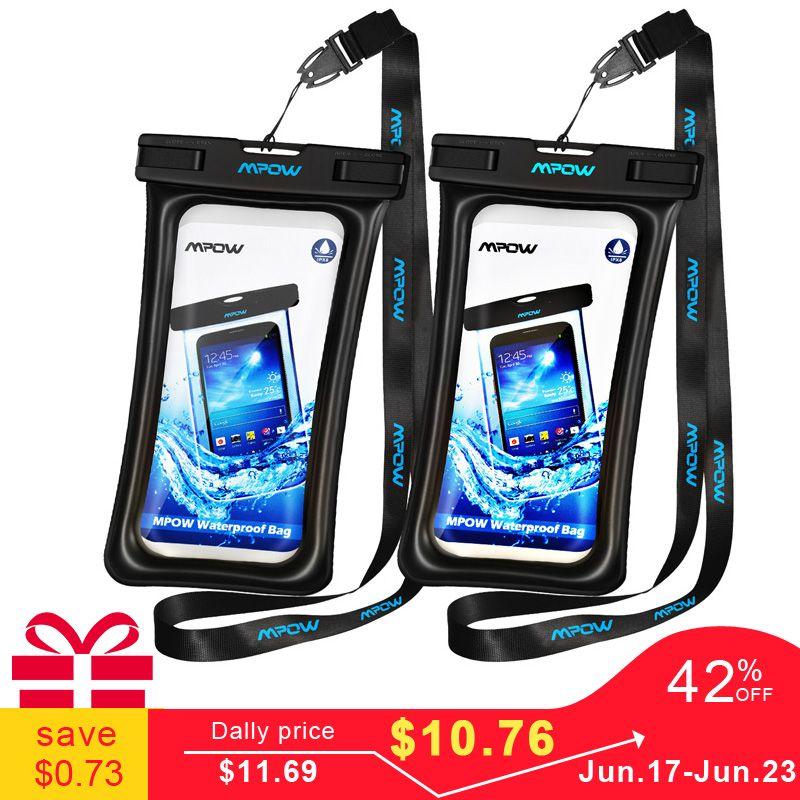 Mpow IPX8 étui étanche sac universel 6.5 pouces téléphone portable sac étui de bain prendre Photo sous l'eau pour iPhone Xs Samsung Huawei