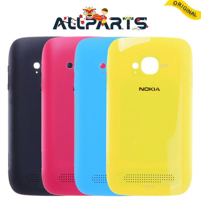 Garantie Nouveau Logement Pour Nokia Lumia 710 Couverture Arrière Cas N710 Batterie Porte Arrière avec Adhésif Pièces De Rechange