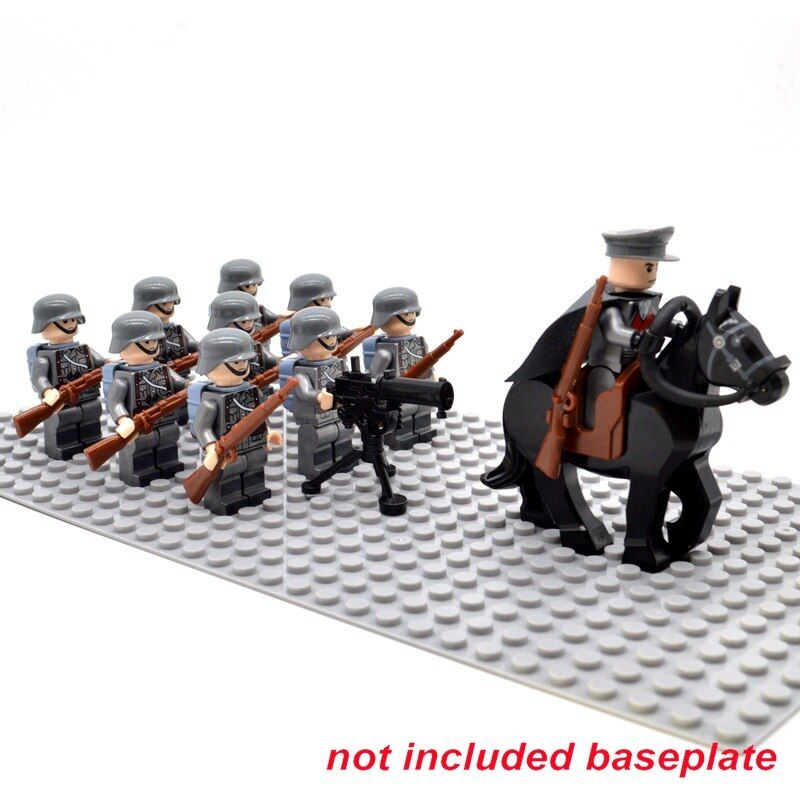 WW2 Soldiers Troop Military German USA UK Soviet Union Italy France Japan Army Building Bricks Blocks Toys for Children