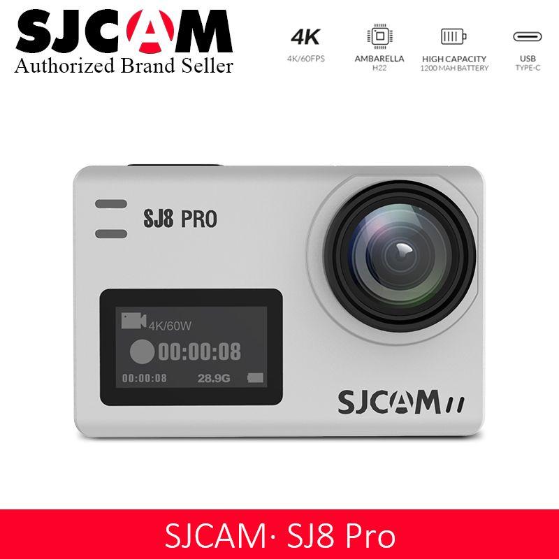 Promotion!!SJCAM SJ8 Pro Action Camera 1296P 4K 30fps / 60fps Sports DV Remote Control Helmet Camera More Accessories