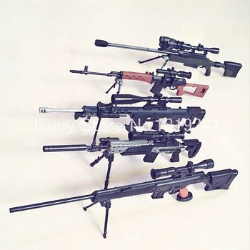 Newest 5 sniper rifles 1:6 SVD,PSG-1,MK14,DSR-1,TAC-50,gun assembly model Building Kits Design details Simple assembly
