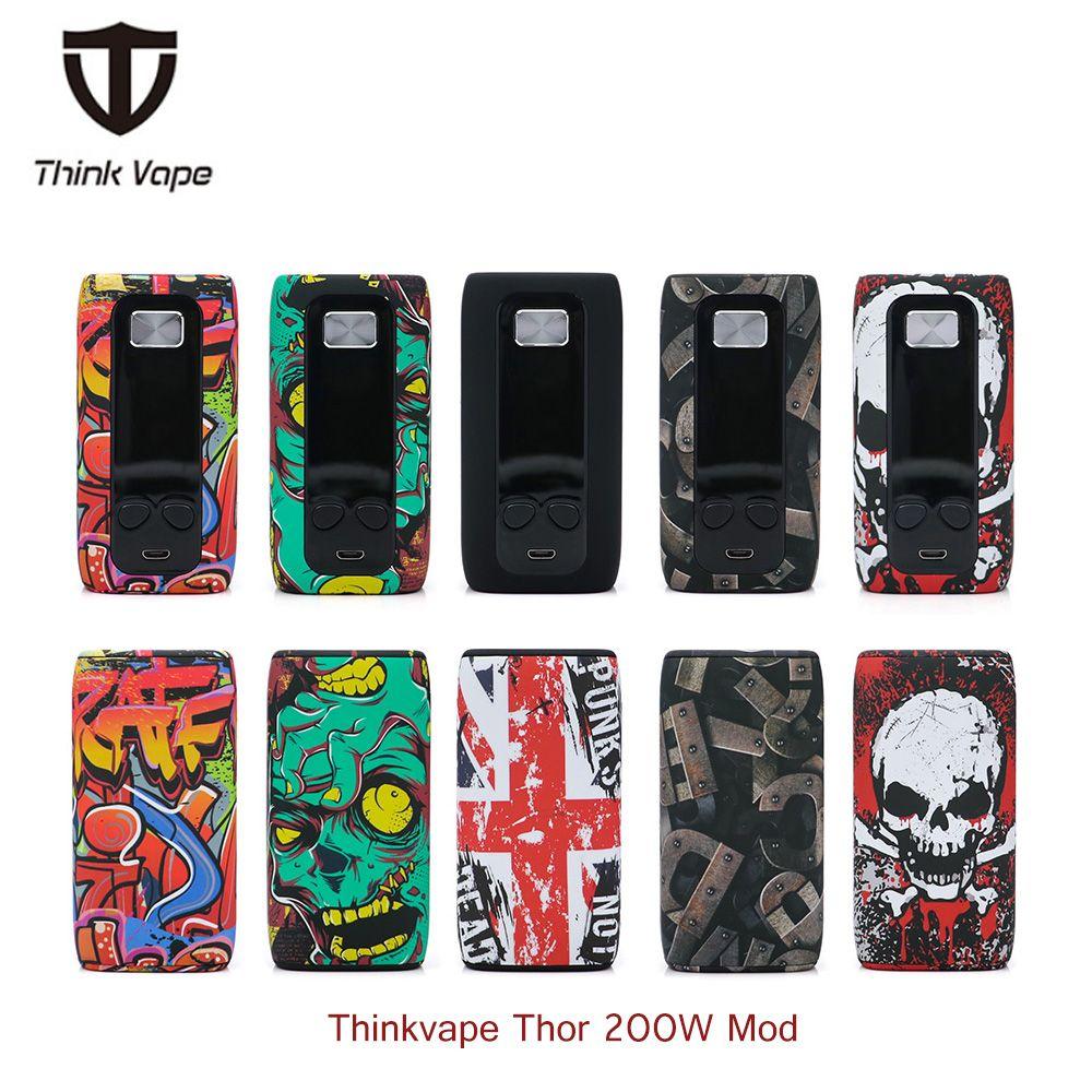 Original Thinkvape Thor 200W Temp Control Box Mod Think Vape Thor vape Bypass vape mod Modes 510 e Cig Mod vs vapor puma storm