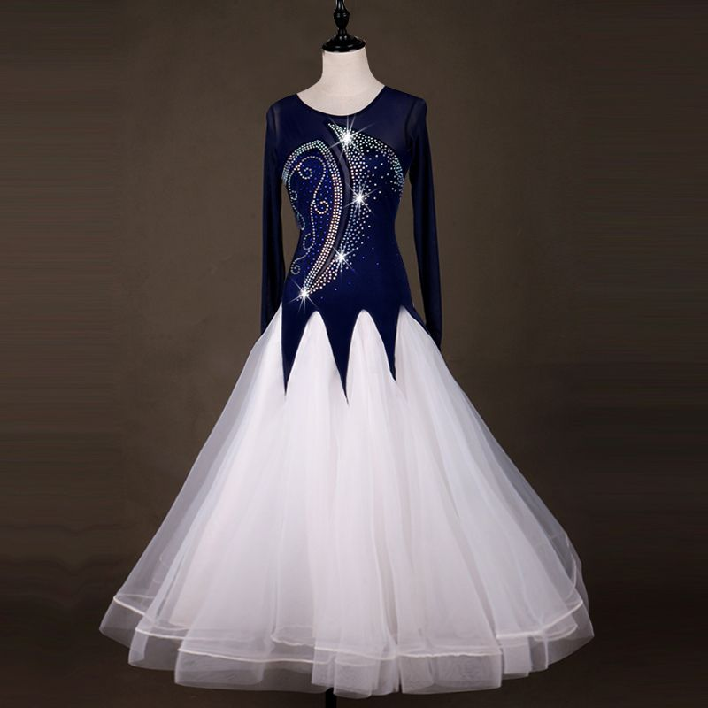 Customizable size ballroom dance competition dresses standard ballroom dress women waltz standard dance dresses