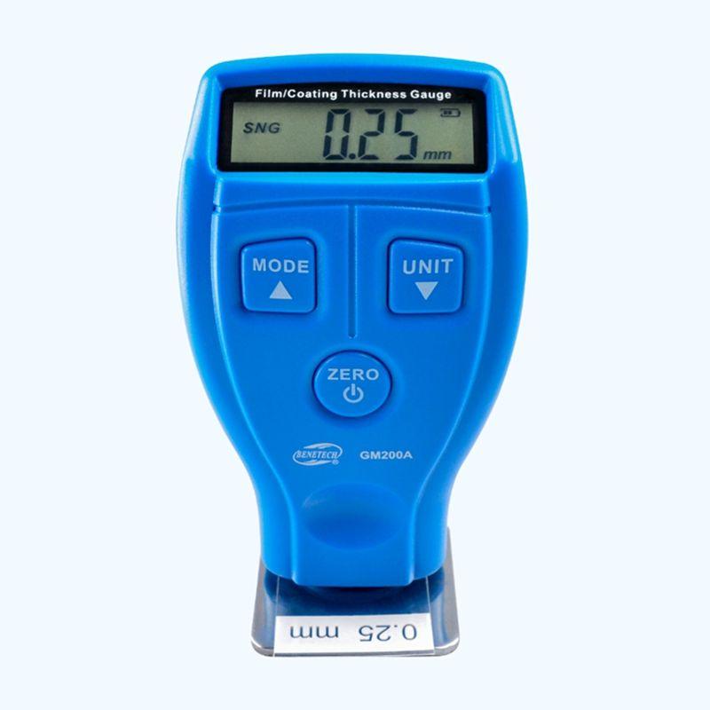 Brand Digital Mini Film Thickness Gauge <font><b>Automotive</b></font> Coating Ultrasonic Car Paint Iron Varnish Thickness gauge Width Meter GM200A