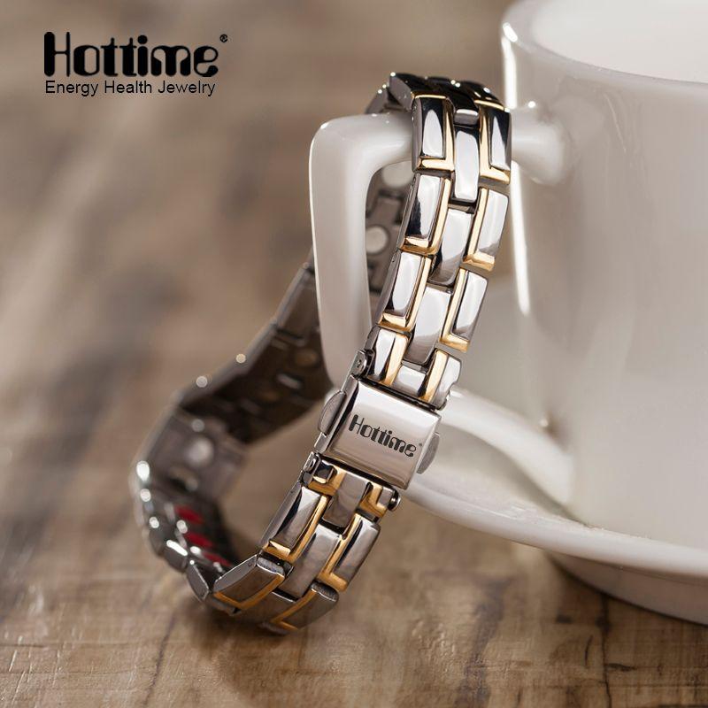 2019 Hottime nouvelle mode bijoux pour hommes Puissance Magnétique bracelet en titane Guérison Mâle Bracelet Livraison Gratuite via AliExpress Standard