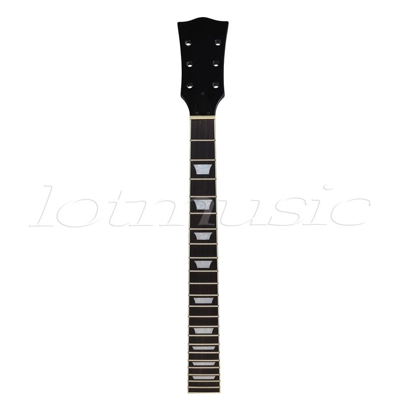 Kmise Electric Guitar Neck Mahogany Rosewood 22 Fret Black for Guitar Neck Replacement