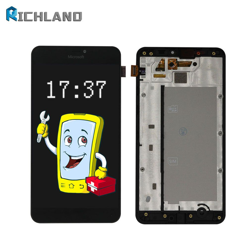 High Screen for Microsoft Nokia Lumia 640XL 640 XL LCD Display+Touch Screen Digitizer Assembly with frame+Free phone lcds tools