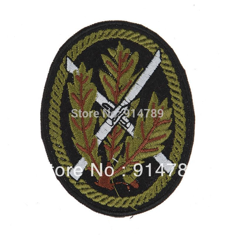 WWII GERMAN WH SCHNEEFELD RIFLEMAN SNIPER ARM-BADGE PATCH-33708