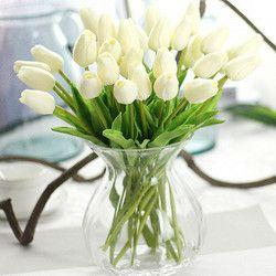 31 unids/lote tulipanes flores artificiales ramo Artificial de la PU Real touch flores para la boda casera flores y guirnaldas decorativas
