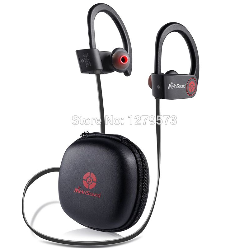 Bluetooth Earphone, Best Wireless Earbuds Sports In Ear Earphones with Built in Mic for Gym Running Workout 8 Hour Battery Red