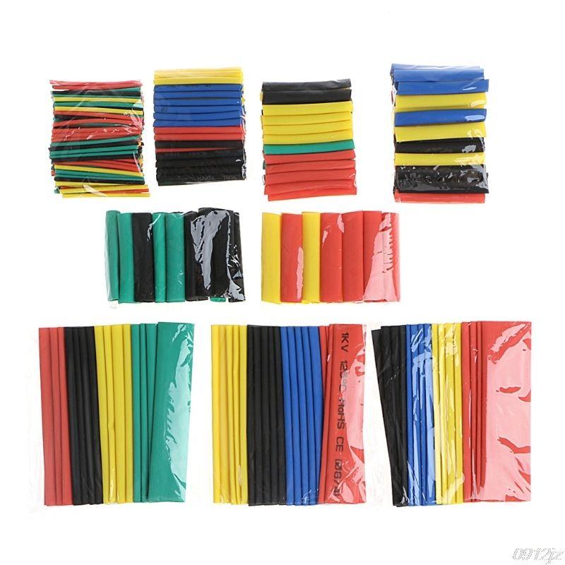 328 Pcs 2:1 Polyolefin Heat Shrink Tubing Tube Sleeve Wrap Wire Set 8 Size New Drop ship
