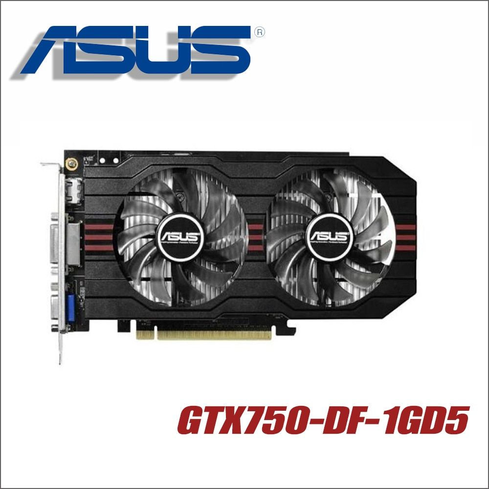 ASUS Graphics Card GTX750-DF-1GD5 GTX 750 1GB 128Bit GDDR5 Video Cards for nVIDIA Geforce GTX750 Hdmi Dvi VGA ti 1050 1050ti