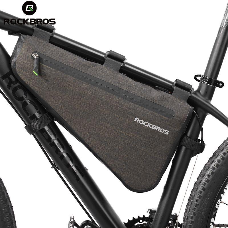 ROCKBROS Bike Bicycle Bag Rainproof Large Capacity MTB Road Frame Bag Triangle Pouch Waterproof Caulking Bag Pannier Accessories