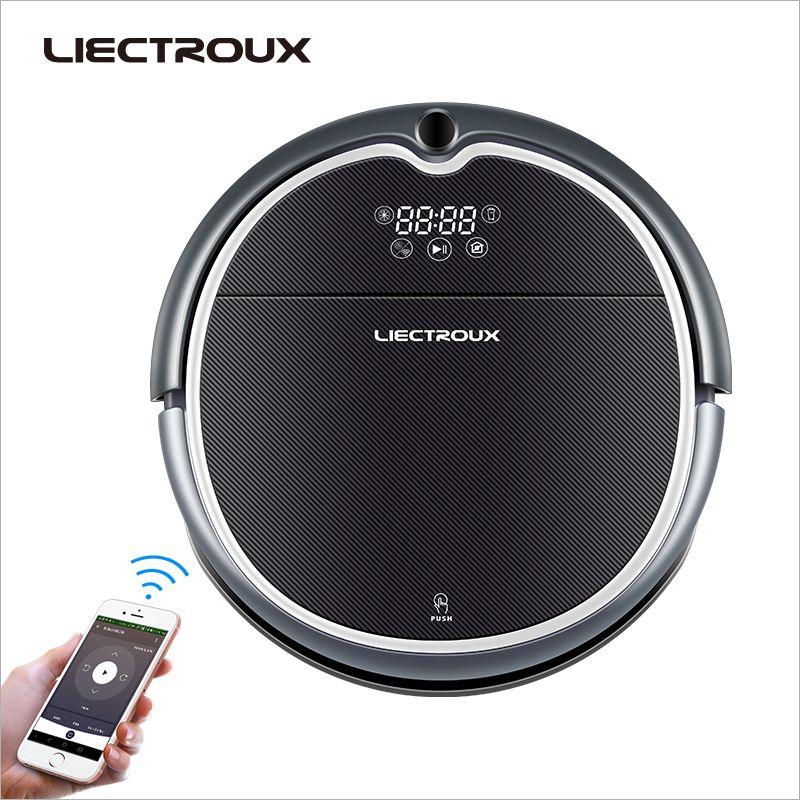 LIECTROUX Robot Vacuum Cleaner Q8000, WiFi App,Map Navigation,Smart Memory,UV Sterilize,Wet Dry Mop,Suction 3KPa,Brushless Motor