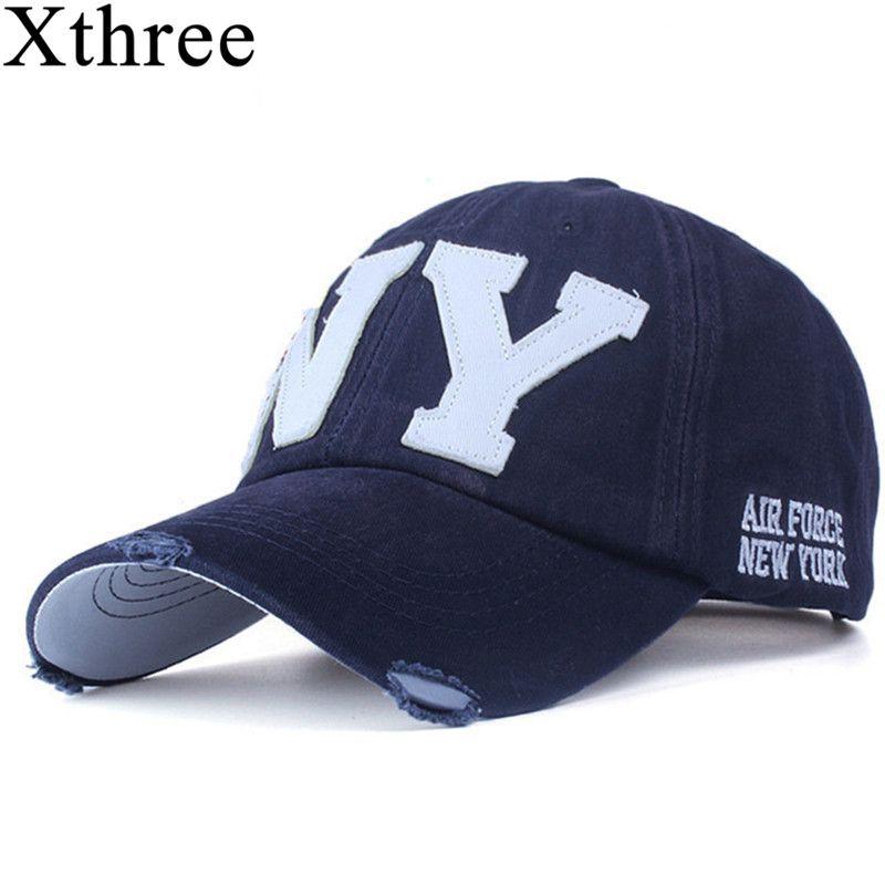 Xthree unisexe mode coton casquette de baseball snapback chapeau pour hommes femmes soleil chapeau os gorras ny broderie printemps casquette en gros