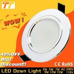 Led Downlight 3 W 5 W 7 W 9 W 12 W 15 W 18 W 220 V 110 V LED Plafond salle de bains Lampes salon lumière Maison Intérieur Éclairage livraison gratuite