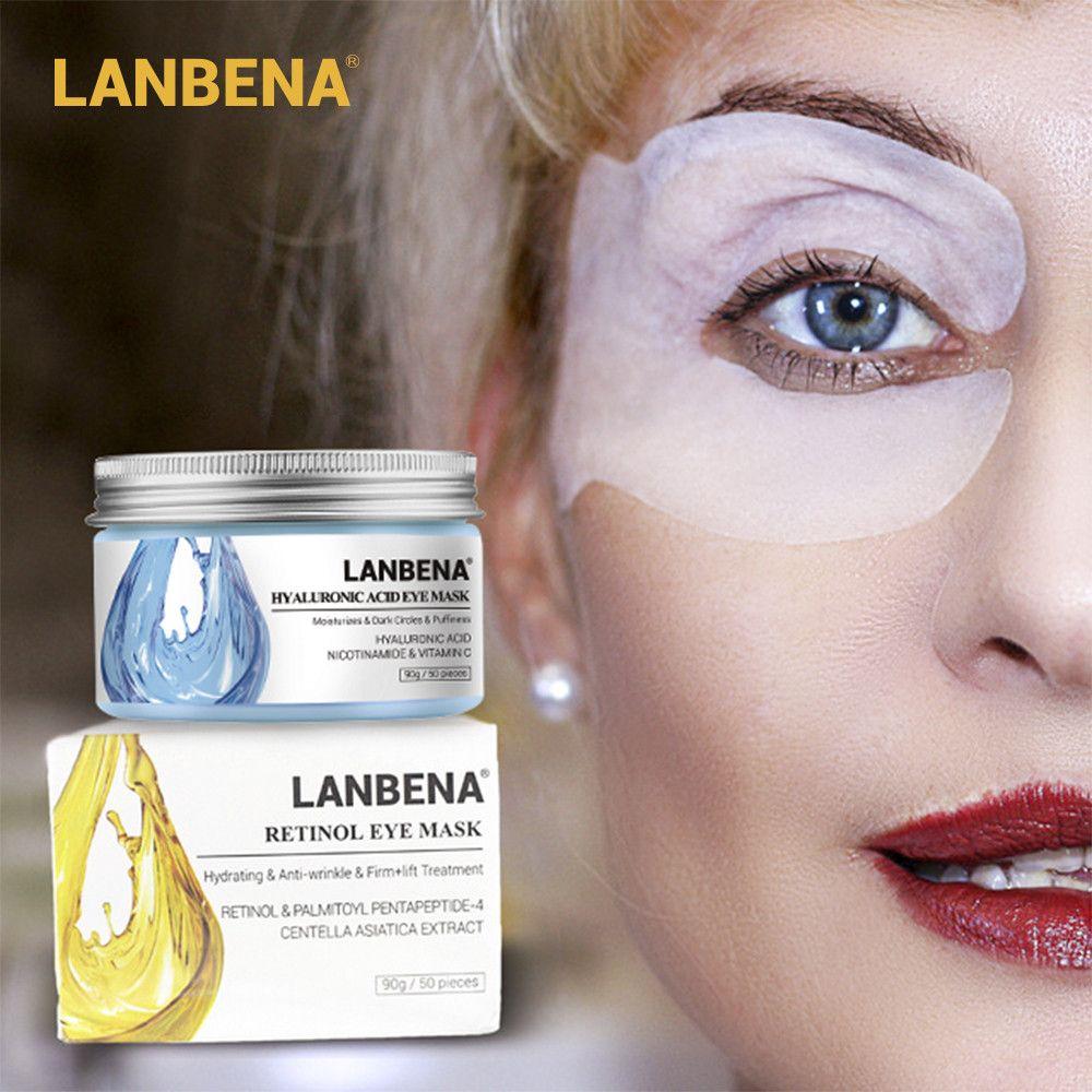 LANBENA Rétinol masque pour les yeux Hyaluronique Acide Pansements Oculaires Sérum Réduit Les Cernes Sacs Lignes pour Les Yeux De Réparation Nourrir Raffermissant Soins de La Peau