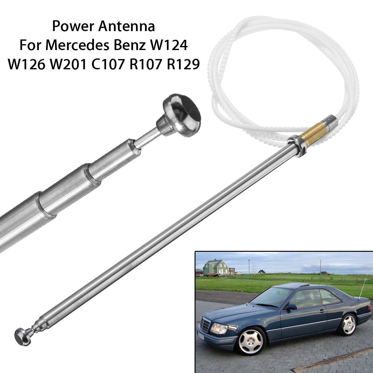Power Antenna Aerials AM FM Radio Mast Cord For Mercedes-Benz W124 W126 W201 C107 R107 Tooth Core