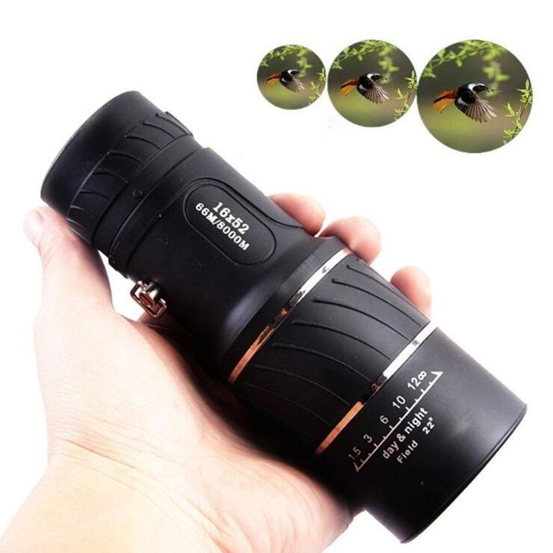 Brand 16X52 All-Optical Monocular High Power Night Vision Nitrogen Telescope for Hunting Optic Lens Best Outdoor Spotting Scope
