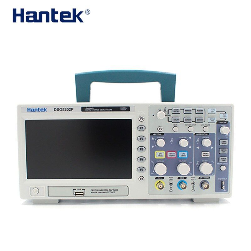 Hantek Digital Storage Oscilloscope 200MHz 1GSa/s 7 inch WVGA PC USB LCD 2 Channels Osciloscopio Electrical Tool 70M 100M 200M