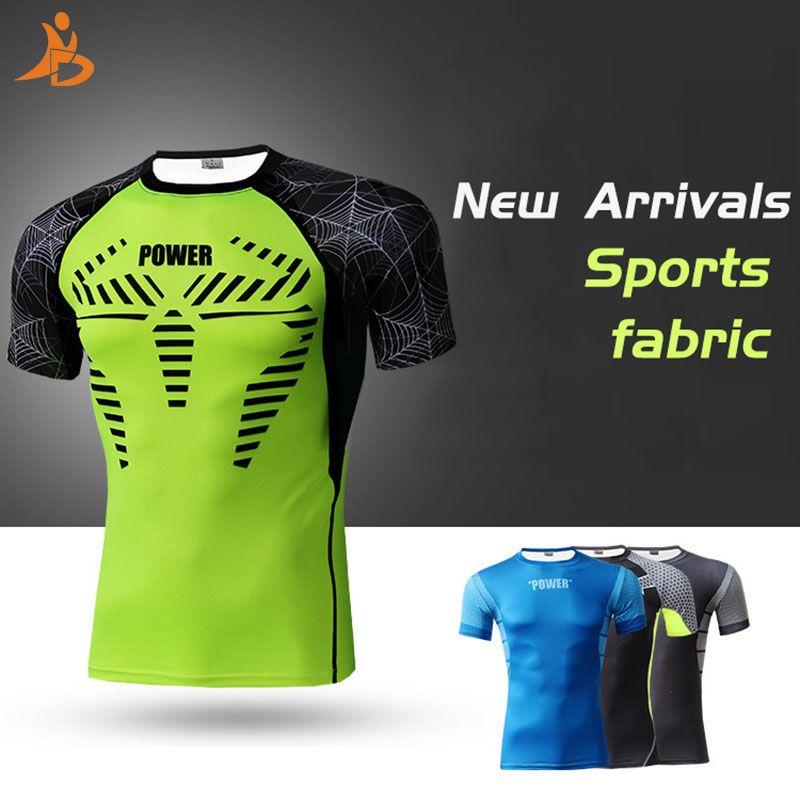 New Running T-shirts Men Quick Dry Short Sleeve Fitness Tight Rashgard Sportwear Training Sport Football T-Shirt Soccer Jersey