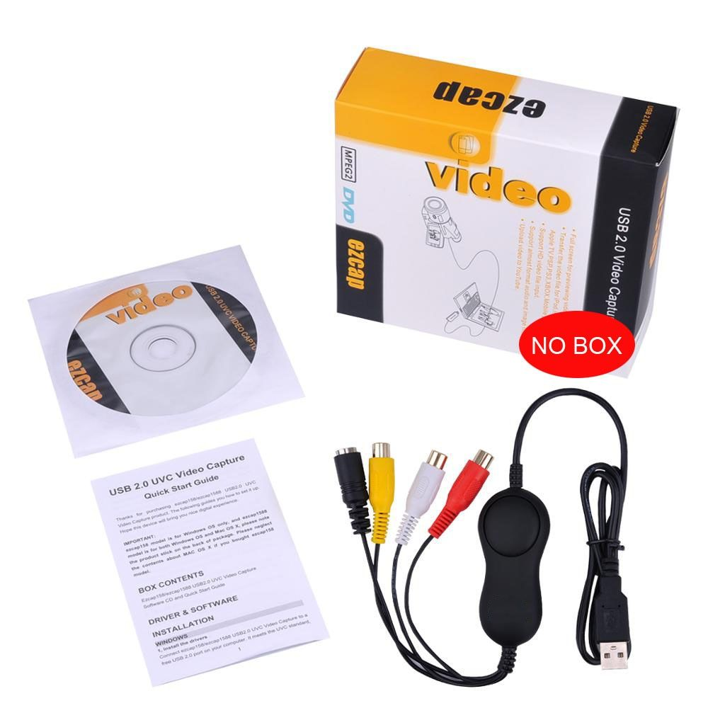 USB Video Recording Card UVC Video Capture,convert analog video audio to digital format for XBOX VHS PS3 Windows, mac, linux