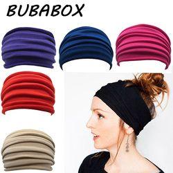 Femmes Large Sport Yoga Antidérapant Bandeau Nouveau Tronçon Boho Bandeau Élastique Turban de Course Headwrap Bande De Cheveux Accessoires