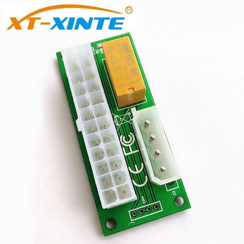 Dual Stromversorgungsmodul SATA/Große 4 P Stecker 24Pin C Multi-Stromkreis Linie Miner Computer Synchron start Control