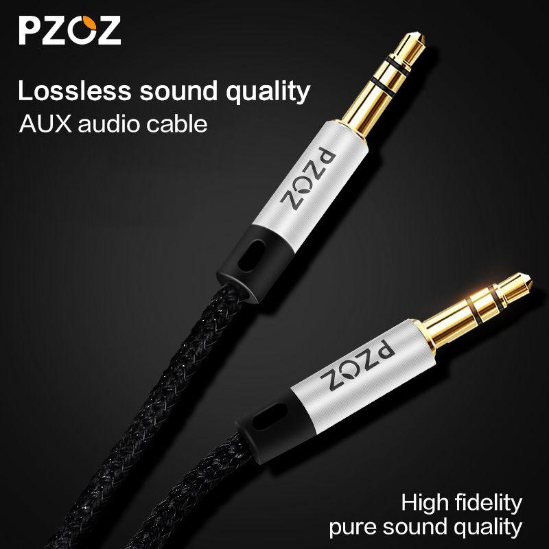PZOZ Audio aux kabel 3,5mm klinke stecker auf stecker Kabel Für iphone 5 6 iPod nano Touch Auto Kopfhörer Lautsprecher MP3 4 CD sound Kabel