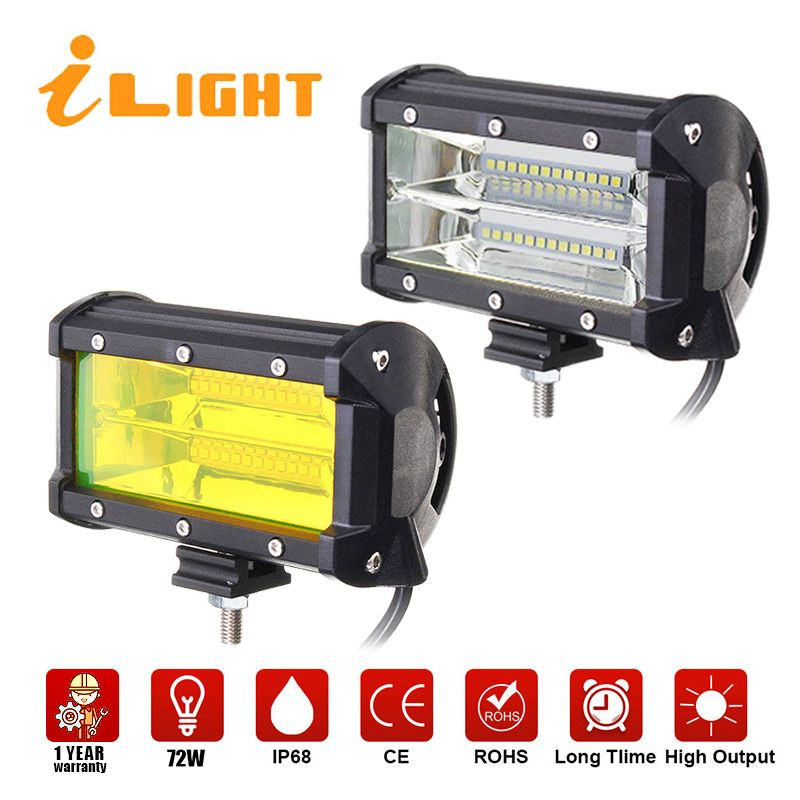2x LED Bar 12V Lighting Bar 4X4 work led auto Beam 24V floodlight Auto Barra Luces Led Para Auto Offroad Lamp Foglighting iLight